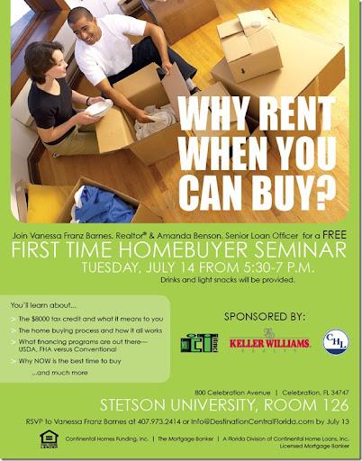 Destination Central Florida: First Time Home Buyer Seminar ...