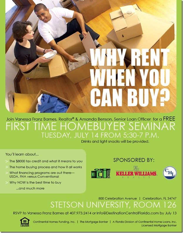 1st Time Homebuyer Seminar FLYER