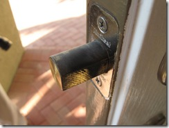 DEADBOLT AT FRONT DOOR