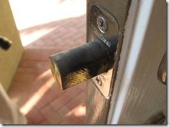 DEADBOLT AT FRONT DOOR