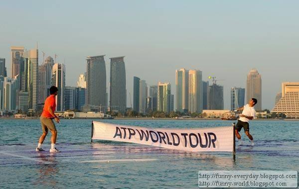 burj Al Arab Dubai Agassi vs Federrer (1)