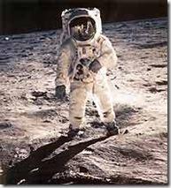 primeros pasos de Aldrin sobre la luna
