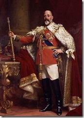 reu Eduardo VII el día de su coronación en 1902 pintado por Luke Fildes