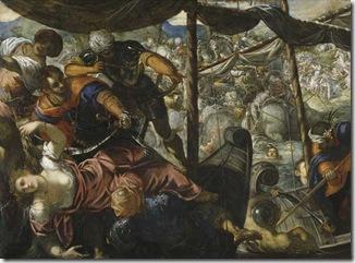 batalla entre turcos y crsitaianos de Tintoreto