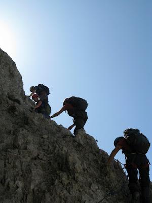 Klettersteig zum Gipfel