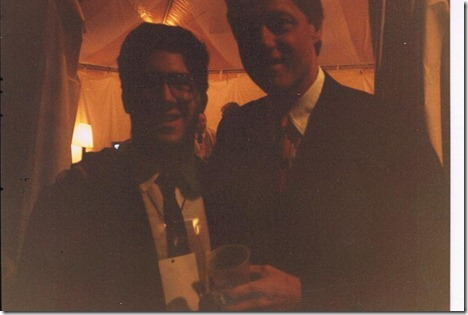 with Bill Clinton at 1992 Democratic National Convention