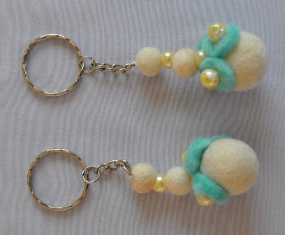 Felt key chain