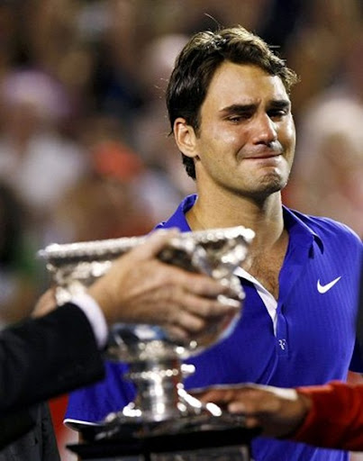 tom brady crying. Tennis: Roger Federer
