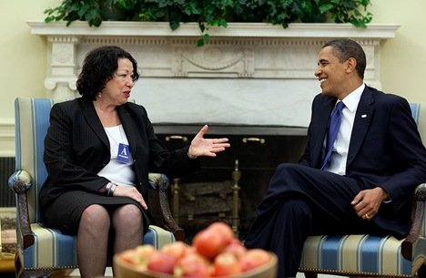 President Barack Obama and Judge Sonia Sotomayor