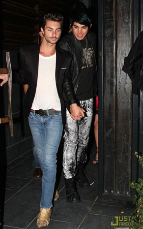 Adam Lambert and Boyfriend Drake LaBry Holding Hands Photo