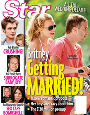 Britney Spears Engaged to Agent Jason Tranwick star cover story picture