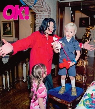Michael Jackson and his three kids Paris Prince and Blanket never before seen pictures