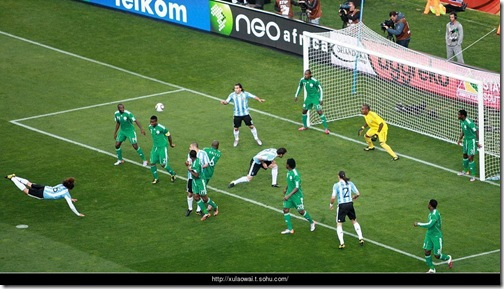 Gabriel Heinze Header Goal on Argentina South Africa World Cup Opening Game, Click on to Enlarge