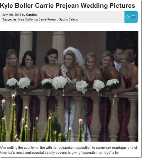 Carrie Prejean Wedding Picture