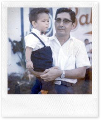papa y yo en la feria
