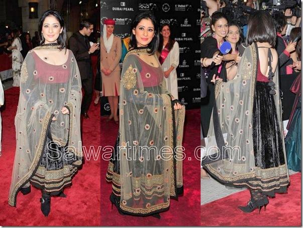 Manisha Koirala_Black_Designer_Salwar_kameez