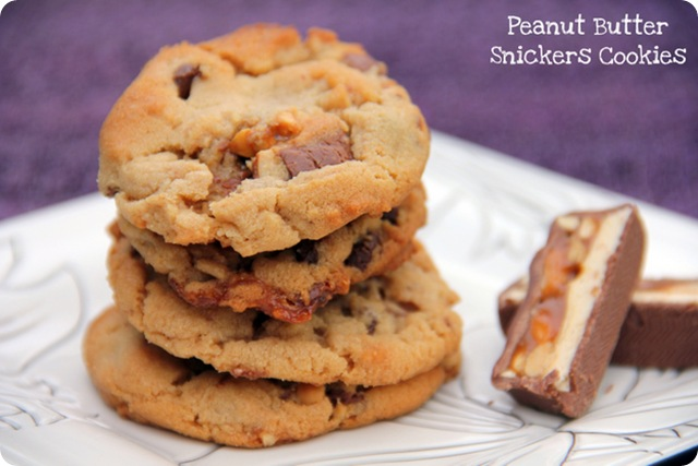 PB Snickers Cookies