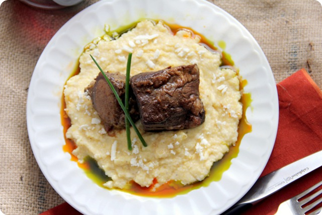 Chile Rubbed Short Ribs with Creamy Polenta 3