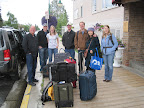 Dan and Christin Raymond sent us off with our luggage after lunch in Anchorage