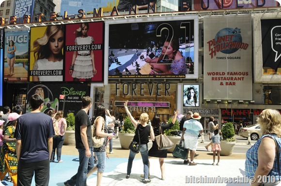 See us up on the billboard, just to the left of her and hoding the poloroid?