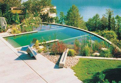 Arquitectura humana piscinas naturales desde for Plastico para piscinas naturales