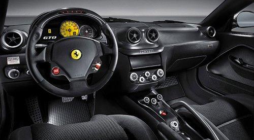 Interior of Ferrari 599 GTO