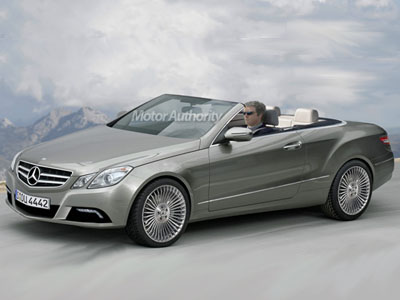 Espionage photos of cabriolet Mercedes-Benz of an E-class