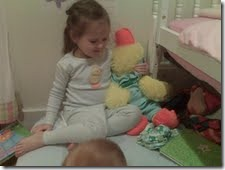 isa and ducky ready for bed