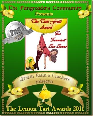 The Tutti Fruiti Award 2nd place