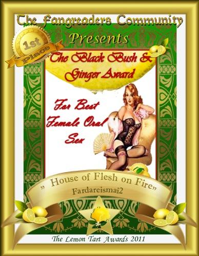 The Black Bush & Ginger Award 1st Place
