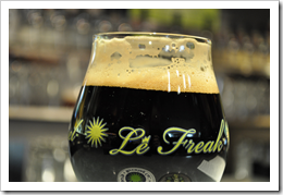 "Green Flash ""special edition"" Coffee Double Stout made with real coffee essence"
