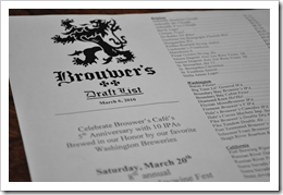 image of Brouwer's Cafe menu courtesy of our Flickr page