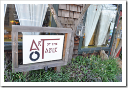 image Signage for Art of the Table courtesy of our Flickr page