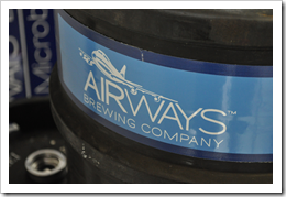 image of Airways Brewing Company's keg label courtsy of our Flickr page