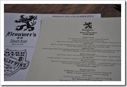 image of Brouwer's Cafe's Hard Liver Barleywine Fest menus courtesy of our Flickr page