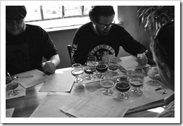 image of the beer judges at work courtesy of our Flickr page