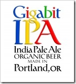 image of Gigabit IPA's label courtesy of OregonBeer's Flick page