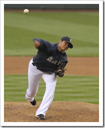 image of Felix Hernandez against the Boston Red Sox's vs Seattle Mariner's 5-26-08 # (13) courtesy of Mark Soba's Flickr page