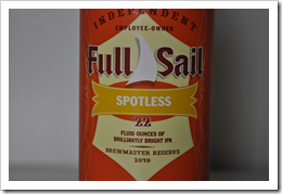 image of Full Sail Spotless India Pale courtesy of our Flickr page