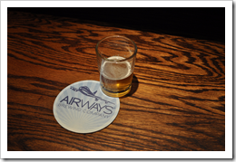 image of Airways Brewing's sample glass and coaster courtesy of our Flickr page