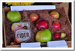 image of a box with the various apples used to make cider, courtesy of our Flickr page