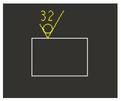 Unmachined Surface Symbol