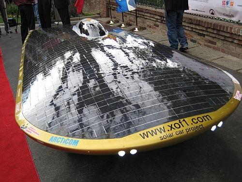 xof1 solar powered car