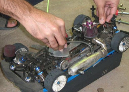 design and fabrication of ic engine powered radio control car belt driven on road car scale 1 10