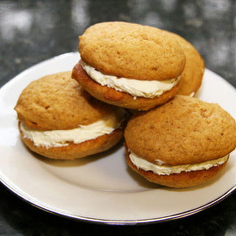 Pumpkin Cookies with Cream Cheese Filling