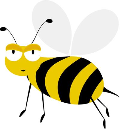 imagen de abeja volando de lado