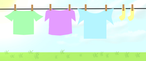 imagen de camisetas tendidas