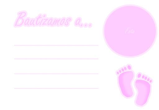 invitacion para bautizo color rosa