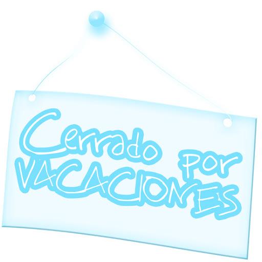cartel cerrado vacaciones