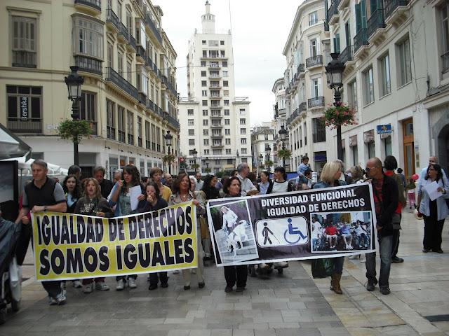 Cabecera de la marcha en Malaga
